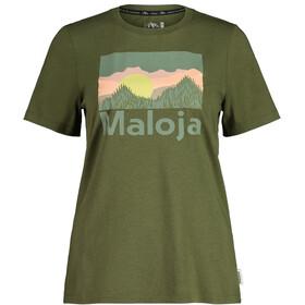 Maloja LeinblattM. SS T-shirt Damer, oliven
